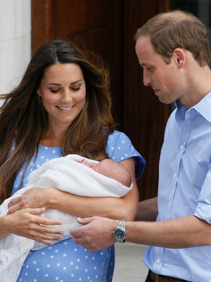 Prince George at 1 day old.