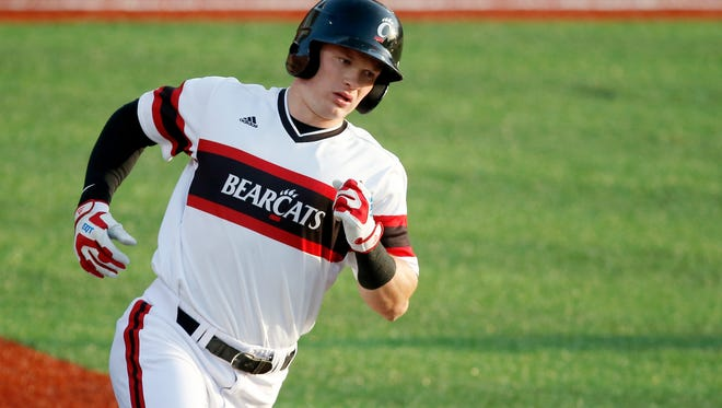 Ian Happ, a junior right fielder for the University of Cincinnati Bearcats, could become the first player in the program's history to be a first-round pick in the Major League Baseball draft.