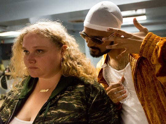 "n ""Patti Cake$,"" Patti (Danielle Macdonald) and Hareesh"