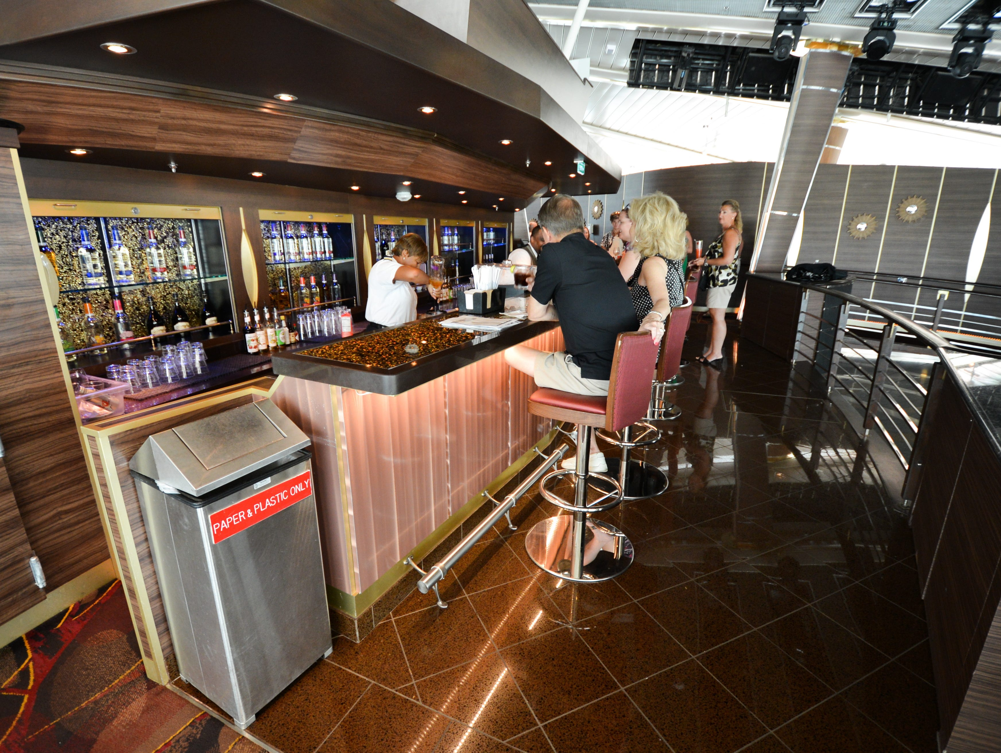 Located on Deck 11, the semi-circular, glass-walled Viking Crown Lounge offers panoramic views and is a signature feature on the ship. It's home to late-night dancing and tapas.