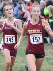 Riverdale's Emma McClellan (143) finished sixth at the Class AAA state meet.