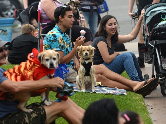 People enjoy themselves Saturday during the Howl-O-Ween