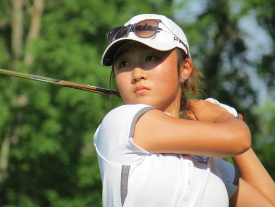 Immaculate Heart Academy junior Yoona Kim, shown here last season, won the Red Devil Invitational at Copper Hill CC in Flemington on Monday, April 8, 2019.