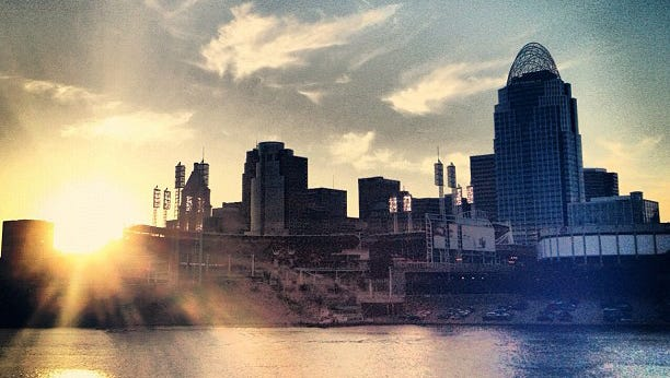 View of downtown Cincinnati, Ohio.