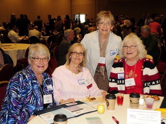 Ripon representatives at the WHA Advocacy Day from the Ripon Medical Center Auxiliary were, seated,from left: Julie Stellmacher, Barb Benkoski, Jackie Halverson and Sandy Krueger.