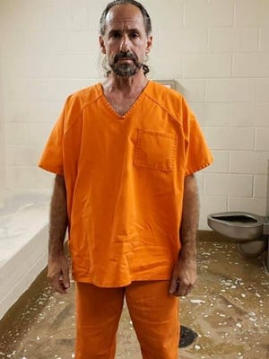 Scott McCaffrey, 54, of Abington, seen in a photo at the Martin County Jail in Florida following his arrest in March by the Stuart Police Department.