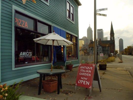 Amici's Ristorante on New York Street has closed.
