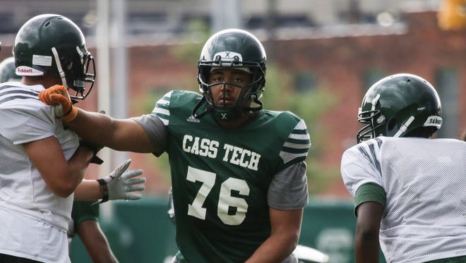 Jordan Reid is a three-star offensive lineman from Detroit Cass Tech.