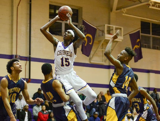 Crisfield's CorTrey Fontaine took on Pocomoke High