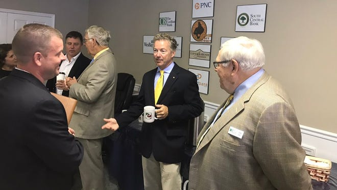 Sen. Rand Paul before a discussion about health care at the Hardin County Chamber of Commerce.