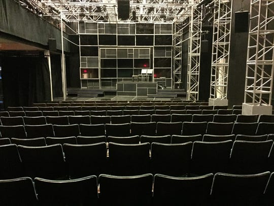 George Street Playhouse's theater space at its new, interim College Farm Road venue on the Cook Campus of Rutgers University.