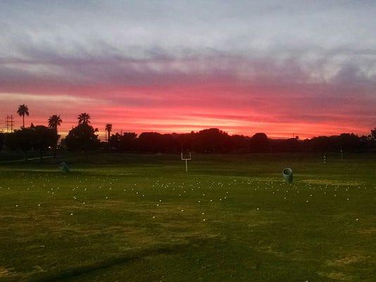 Sunset from Ken McDonald Golf Course