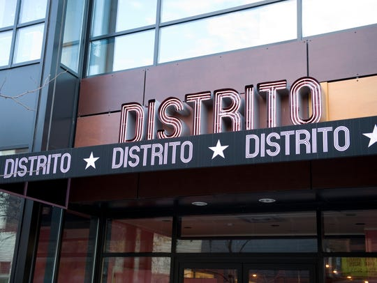 Jose Garces' Distrito in the Moorestown Mall offers bar bites such as tacos, Queso Fundido, nachos and wings.