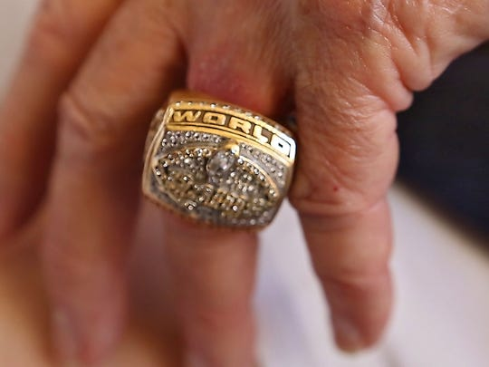 Kenny Irwin's Super Bowl Championship ring.