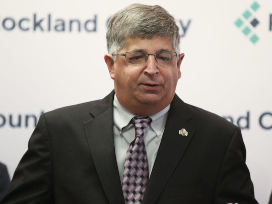 Rockland County Clerk Paul Piperato speaks during a