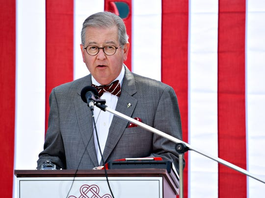 In this file photo, York City Councilman Henry Nixon gives the first responders memorial tribute during the 2016 Court of Valor & Safekeepers Shrine Ceremony with York's Observance of the 15th Anniversary of 9/11 at Prospect Hill Cemetery in North York, Sunday, Sept. 11, 2016. Dawn J. Sagert photo