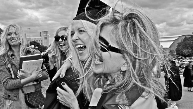 Lindsey Kesling and her mother Dot celebrating her graduation. Lindsey Kesling died in 2010 after being exposed to carbon monoxide.