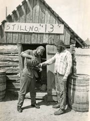 People celebrate Stearns County's heritage during St. Cloud Pioneer Days in 1953. During Prohibition, Stearns County was known for producing high-quality moonshine called Minnesota 13, which was named after Minnesota 13 corn.
