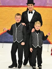 "Manitowoc County Figure Skating Club's 21st annual show is Friday-Sunday at the Ice Center. Pictured: ""I've Got the World on a String"" cast."