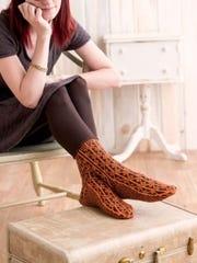 The Lindisfarne sock has the look of old runes.
