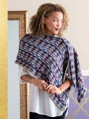 If you like knitting plaids, this Falkirk Wrap has