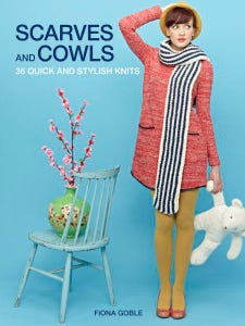 """""""Scarves & Cowls"""" is a book of 36 quick & easy patterns"""