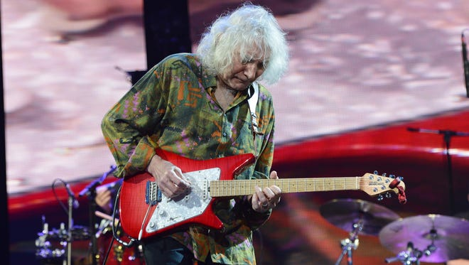 NEW YORK, NY - APRIL 13:  Albert Lee performs on stage during the 2013 Crossroads Guitar Festival at Madison Square Garden on April 13, 2013 in New York City.  (Photo by Larry Busacca/Getty Images)