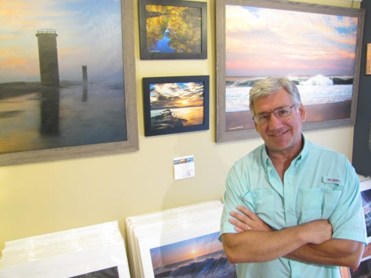 Michael Orhelein at his Bethany Fine Arts Gallery shop.