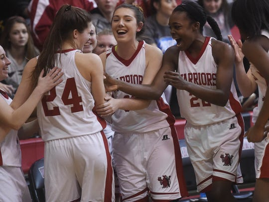 Susquehannock's players celebrate after the Warriors
