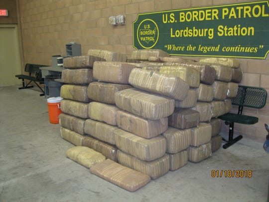 A load of marijuana seized by U.S. Border Patrol agents