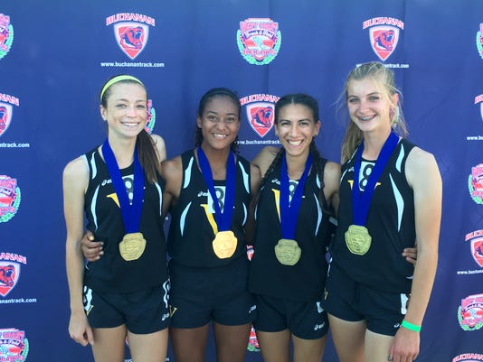 #stockphoto Ventura High girls 4x400 record relay