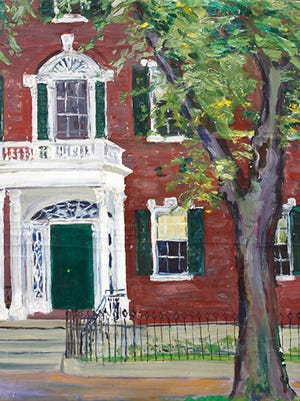 """""""The Porch"""" by Alice Judson is on exhibit at RiverWinds Gallery in Beacon. Tickets to win one of the artist's original paintings are being sold to help restore the gravestone of one of Beacon's well-known female artists. The drawing will be held Sept. 27 from 4-7 p.m."""
