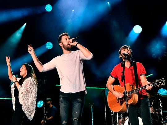 Lady Antebellum performs at Nissan Stadium on the third