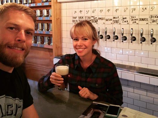 Jason Caya, 32, and Janet Van De Winkle, 28, are co-owners of Tenacity Brewing in Flint.