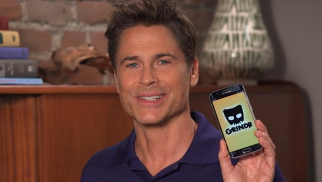 Google Phone Tracker >> 'The Grinder' star Rob Lowe finally made a Grindr ad