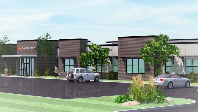 An artist's rendering of the new home for KeyMark in the Pickens County Commerce Park near Liberty.