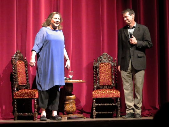 Actress Kathleen Turner acknowledges the crowd with