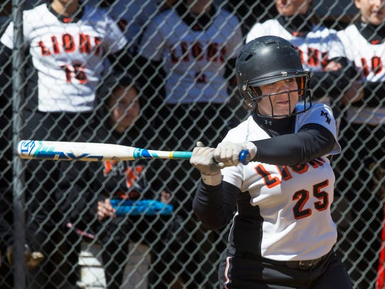 Middletown North vs Allentown in Softball Strikes out