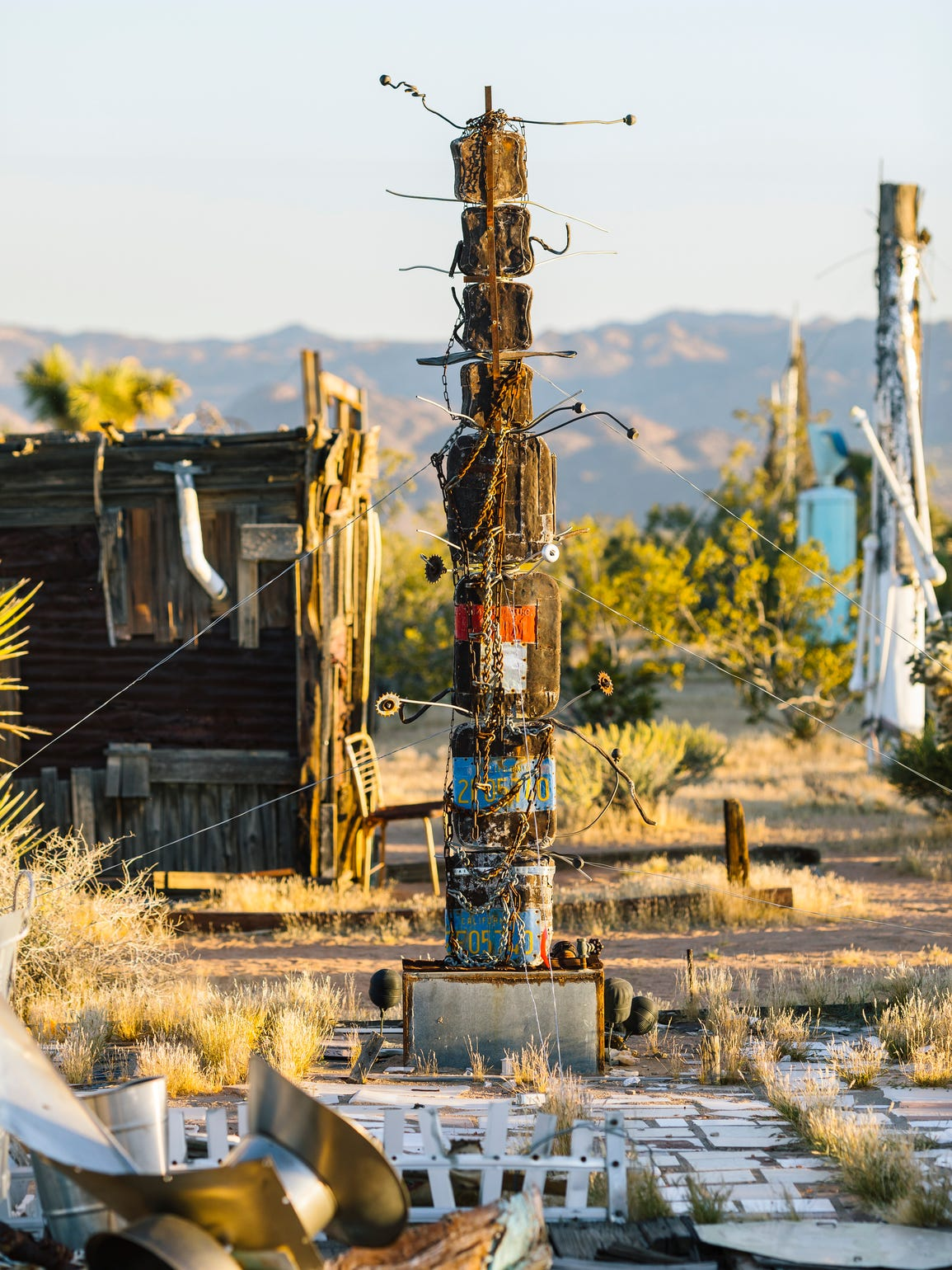 Noah Purifoy's Outdoor Museum of Assemblage Sculpture