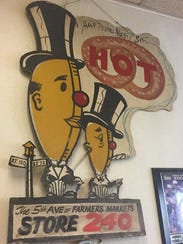 This sign once identified Mart Pretzel Bakery at the