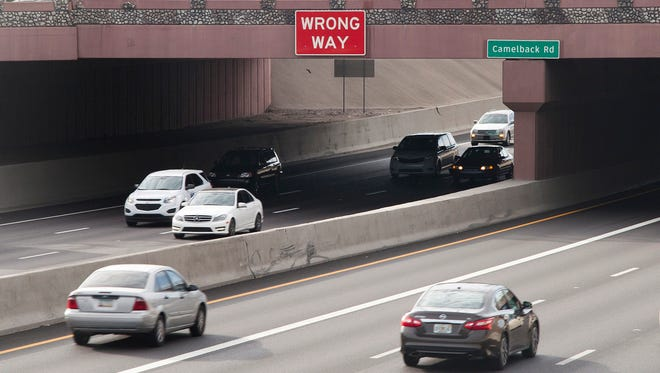 """The Arizona Department of Transportation has installed """"wrong way"""" signs on Interstate 17, the latest in a series of efforts aimed at tamping down the issue of errant motorists on Valley freeways."""
