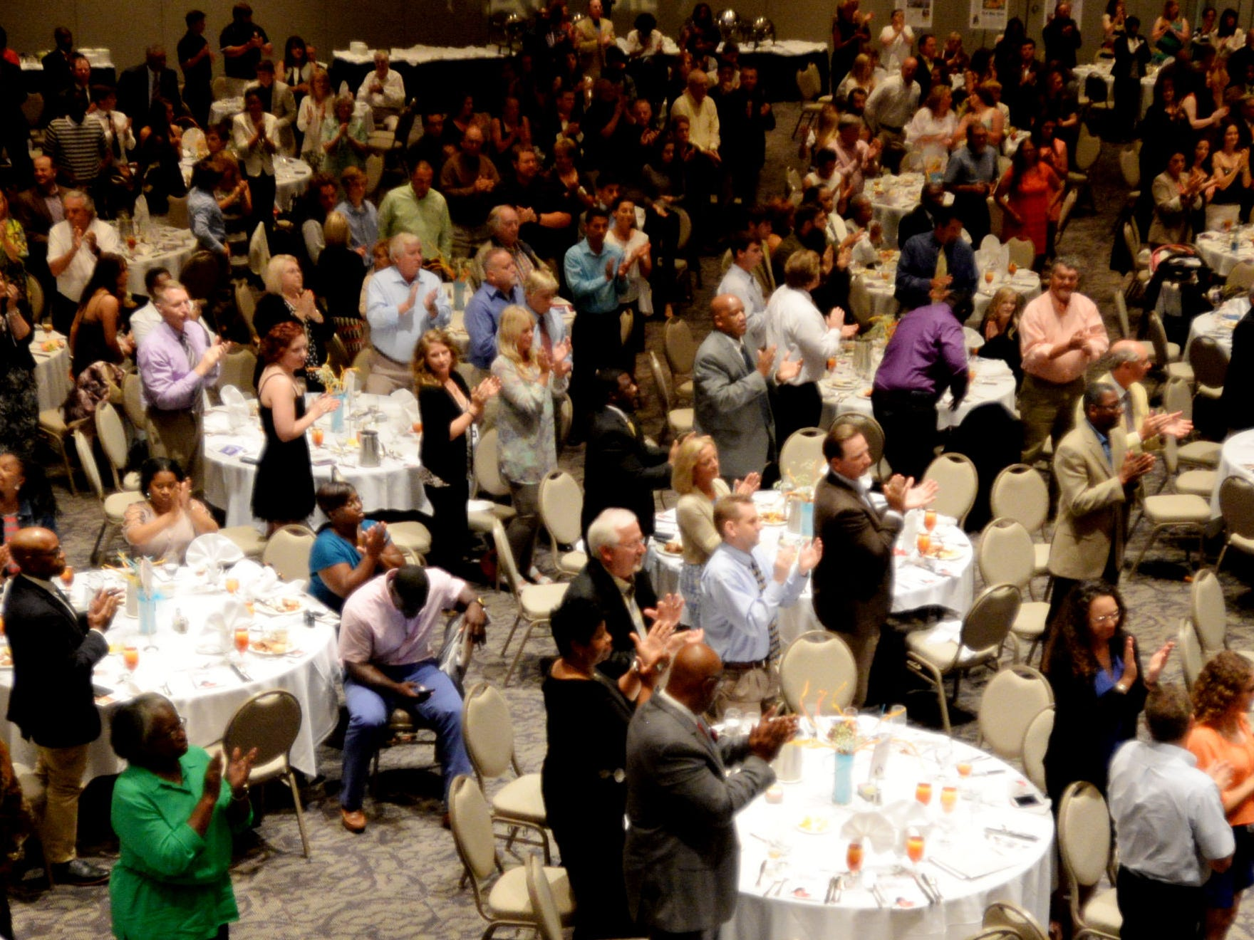 People fill the room during The Times' inaugural Best of Northwest Louisiana Preps banquet Tuesday evening at the Shreveport Convention Center.