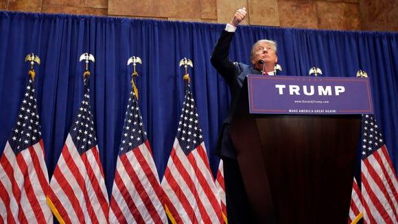 Donald Trump announces his presidential run on June