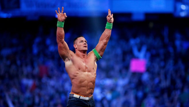 "John Cena, pictured here, is refusing to participate in the WWE event ""Crown Jewel"" in Saudi Arabia on Nov. 2, according to Bleacher Report."
