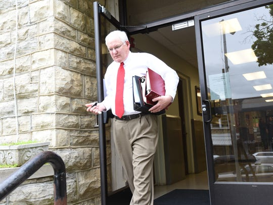 Newton County Circuit Judge John Putman leaves the Marion County Courthouse in this file photo. The Arkansas Department of Environmental Quality have asked the Arkansas Supreme Court to intervene in a lawsuit involving C&H Hog Farms.