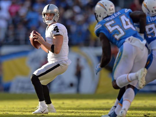 Derek Carr and the Raiders' offense ranks third in the NFL through 14 games.