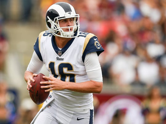After a rough rookie season, Rams quarterback Jared Goff has the NFL's third-best QB rating with Sean McVay as L.A.'s head coach.