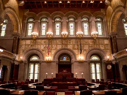 The Senate Chamber is seen at the state Capitol on
