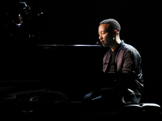 John Legend is seen during rehearsals for the 89th Academy Awards on Friday, Feb. 24, 2017. The Academy Awards will be held at the Dolby Theatre on Sunday, Feb. 26.