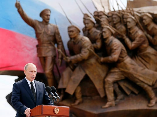 APTOPIX Russia World War I Ceremony
